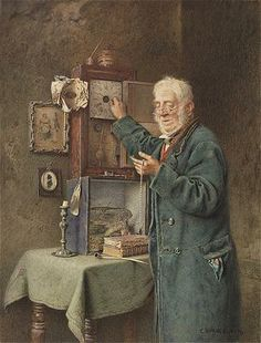 Charles Spencelayh ~ 'Greenwich time'