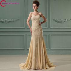 >> Click to Buy << 2017 Long Beaded Floor Length Off The Shoulder Sleeveless Elegant Mermaid Evening Dresses #Affiliate
