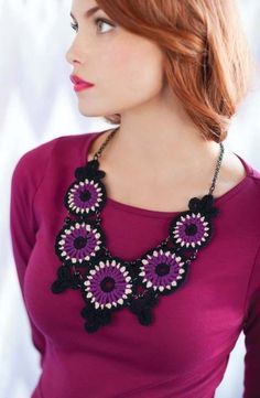 Stained Glass Necklace | crochet today