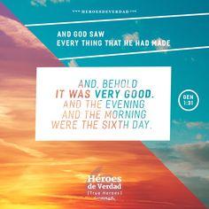 Sixth day. #itwasverygood #creation #trueheroes