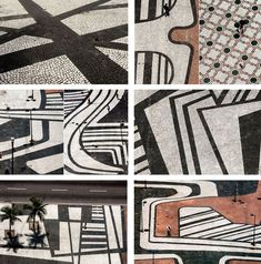""""""" roberto burle marx's paving patterns are out of this world. i cannot even handle it. """"lambtime: """" roberto burle marx's paving patterns are out of this world. i cannot even handle it. Architecture Design, Landscape Architecture, Architecture Symbols, Architecture Career, Classical Architecture, Ancient Architecture, Sustainable Architecture, Landscape Design Plans, Urban Landscape"""
