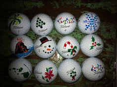 Golf balls I decorated.