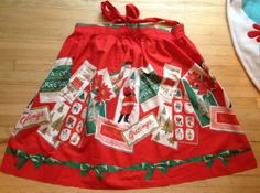 60s Christmas Apron by lishyloo on Etsy, $20.00