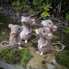 Your place to buy and sell all things handmade Needle Felted Animals, Felt Animals, Needle Felting, Wire Cover, Felt Mouse, Felt Birds, Cute Mouse, Xmas Presents, Woodland Creatures