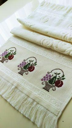 Towel, Cross Stitch Embroidery