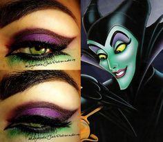 Maleficent inspire makeup