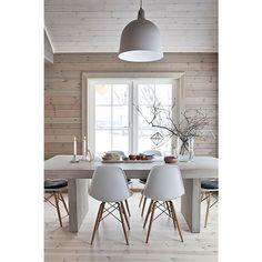 Scandinavian design, table, chaise, lampe, cuisine ❤ liked on Polyvore featuring home, furniture, tables, accent tables and scandinavian furniture