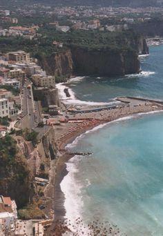 Italian coast driving from Naples to Sorrento