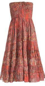 a5dbec7fce1 Hippy Skirt~Bohemian Tiered Skirt Paisley Print Skirt Dress~Fair Trade by Folio  Gothic Hippy SK280
