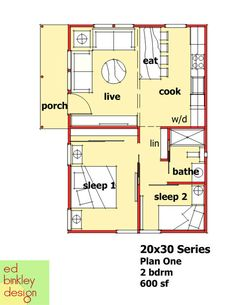 New Panel Homes 20 by 30 Traditional (floor plan)