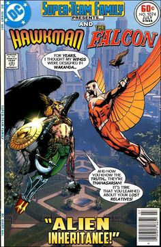 "Super-Team Family: The Lost Issues!: Hawkman and The Falcon in ""Alien Inheritance!"""