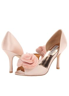 Badgley Mischka Thora Pink Satin - I love these!