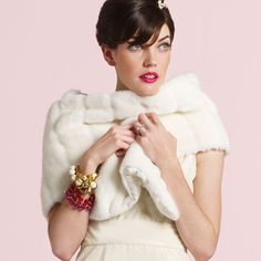 kate spade fur stole- want want want