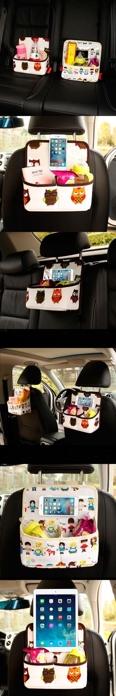 Auto Backseat Car Organizer Phone Holder Baby Kids Safety Seats Multi-Pocket Travel Accessories Storage Hanging Bag