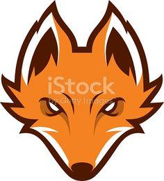Fox head sport mascot. Label. Logotype