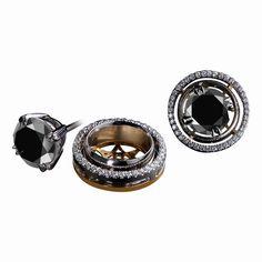 Black Diamond Stud Earrings and Diamond Earring Jackets 1