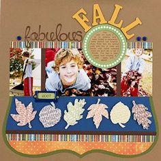 Fall Scrapbook Layout   12X12 Scrapbook Layout   Autumn Themed   Creative Scrapbooker Magazine    #fall #autumn #scrapbooking