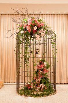 Birdcage w/ greenery