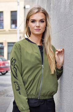 Gigi Zip Thru' Bomber Jacket Bomber Jacket, Street Style, Zip, Jackets, Collection, Fashion, Down Jackets, Moda, Urban Taste