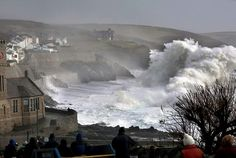 Storm Imogen, January 2016, Porthleven, Cornwall