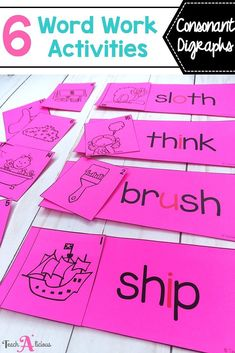Keep your first grade students engaged during literacy centers with these 6 hands on word work activities for consonant digraphs. They are easy to differentiate and organize. Students practice their phonics skills with puzzles, matching, sorting and spelling activities. This is the perfect addition to your Daily Five or guided reading stations.