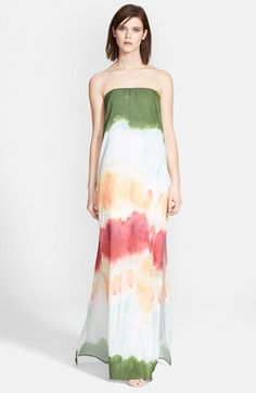 Alice + Olivia 'Yulissa' Print Chiffon Maxi Dress available at #Nordstrom