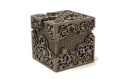 IMPORTANT: This item is made to order therefore it will not be shipped for 7 to 14 days.  Three layer cube made from laser cut 1/8 inch Baltic