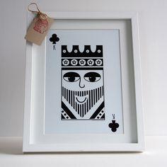 King of clubs original print. £6.00, via Etsy.