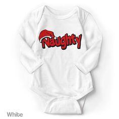NAUGHTY (Naughty or Nice Christmas List) - Long Sleeve Infant Creeper