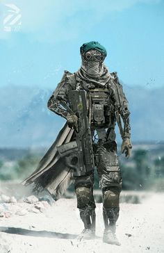 Amazing Concept of a Robot Soldier