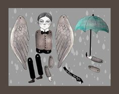 so dark, I  love it http://www.pinterest.com/pearlswithplaid/paper-dolls-for-real/
