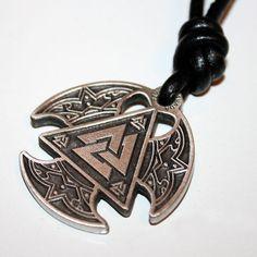 Vikings Triple Axe Necklace