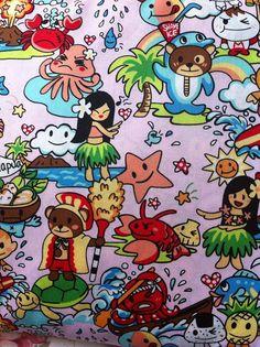 Kawaii Japanese Anime Fabric in Kawaii Holiday by kawaiifabric, $16.00