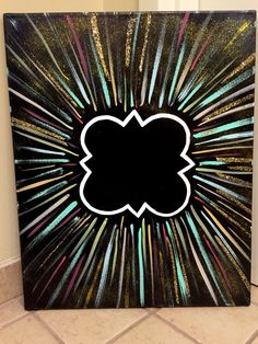 Black vibrant quatrefoil canvas #PhiMu