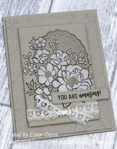 Lovely Lattice is one of the many beautiful products you can earn for FREE during Stampin' Up's 2019 Sale-A-Bration! It's a sale like no other! Sympathy Cards, Greeting Cards, Stamping Up Cards, Rubber Stamping, Flower Cards, Homemade Cards, Your Cards, Cardmaking, Birthday Cards