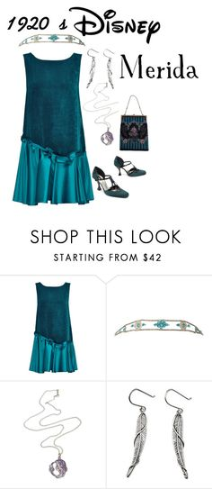 """1920's Disney: Merida"" by daughter-of-apollo92 ❤ liked on Polyvore featuring Lattori, NOVICA and Disney"