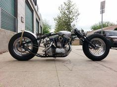 Insane Gooseneck Bobber. Long, Low Harley Bobber, Harley Davidson Chopper, Bobber Motorcycle, Bobber Chopper, Motorcycle Outfit, Harley Davidson Motorcycles, Motorcycle Design, Vintage Bikes, Vintage Motorcycles