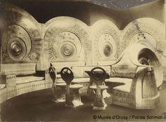 The 'Snail Room', interior by Carlo Bugatti