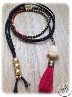 Sautoir perles et bouddha par ByVibi sur Etsy