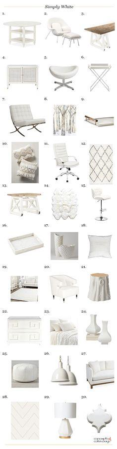 benjamin moore simply white product roundup, interior styling ideas, interior design inspiration, warm white, creamy white