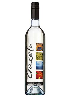 Gazela Vinho Verde - light and citrus-y with a little effervescence this is a great summer drinking wine.