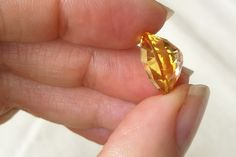 Magnificent Golden Yellow Citrine. Checkerboard Oval Cut. 6.82 ct.