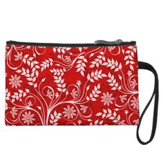 Hmong Red Floral Clutch by BOLO CHIC.
