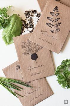Geschenke Garten Seed Pakets Samentütchen