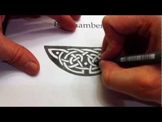 How to Draw Celtic Knots 26 - Crescent Triskele of Kells pg 32v, 4of4 - YouTube