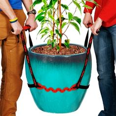 PotLifter - Potted Plant Mover and Essential Lifting Tool For Garden Flower Pots, Planters, Trees, Rocks - Lifts Up to 200 Pounds - A Plant Caddy Alternative, Easily Move Heavy Items Around Your Yard Moving Checklist, Moving Tips, Garden Planters, Planter Pots, Garden Tool Set, Garden Ideas, Packing To Move, Cordless Circular Saw, 200 Pounds
