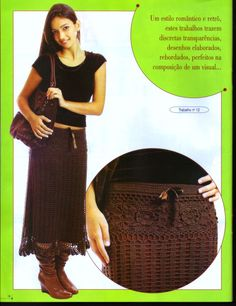 Brown skirt with diagram