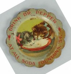 1900-1905 Dr. Pepper Needle Tray With Cats.