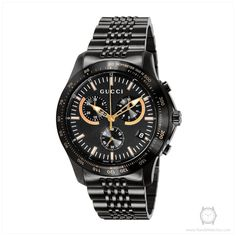 24782147277 Gucci Ya126260 G-timeless Black Dial Stainless Chronograph Men s Watch  Gucci Watch