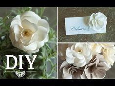DIY: Romantische Rosenblüten aus Papier für Hochzeitsdeko selber machen | Deko Kitchen - YouTube